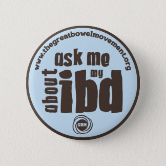 Ask Me About My IBD Button - Blue