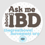 Ask Me About My IBD Sticker - Dots