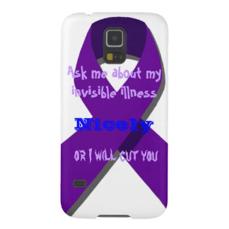 Ask Me About My Invisible Illness Galaxy S5 Case