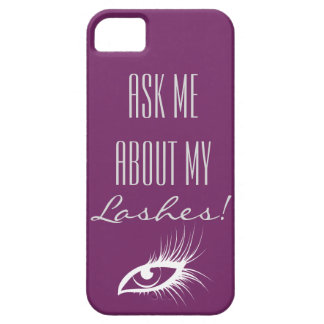Ask me about my lashes iPhone SE/5/5s case