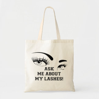ASK ME ABOUT MY LASHES TOTES BAG 2
