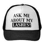 Ask Me About My Lashes trucker hat