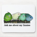 Ask me about my linnies mousepads