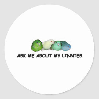 Ask me about my linnies stickers