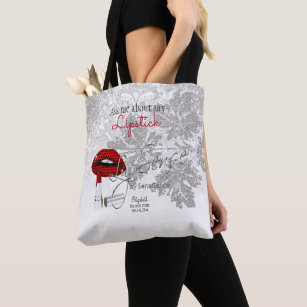 3f96a00ffa Ask me about my Lipstick - Red Tote Bag
