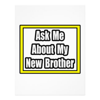 Ask Me About My New Brother Full Color Flyer