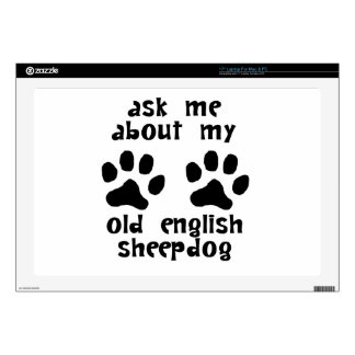 Ask Me About My Old English Sheepdog Laptop Decals