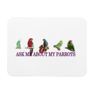Ask Me About My Parrots Magnet