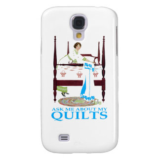 Ask Me About My Quilts Samsung Galaxy S4 Cover
