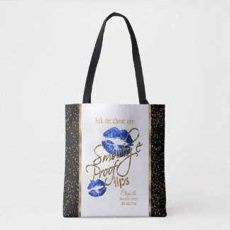 Ask me about my Smudge Proof Lips - Blue Tote Bag