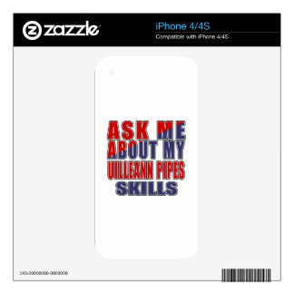 ASK ME ABOUT MY UILLEANN PIPES SKILLS iPhone 4 DECALS