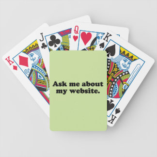 ASK ME ABOUT MY WEBSITE CARD DECK
