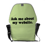 ASK ME ABOUT MY WEBSITE COURIER BAGS