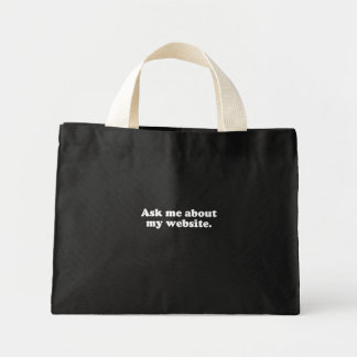 Ask me about my website  (Pickup Line) Tote Bag