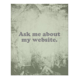 ASK ME ABOUT MY WEBSITE POSTERS