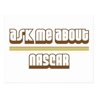 Ask Me About NASCAR Postcard