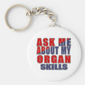 ASK ME ABOUT ORGAN MUSIC KEYCHAIN