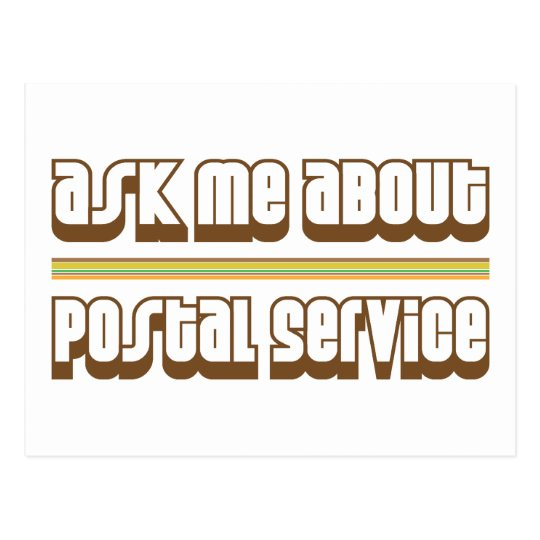 Ask Me About Postal Service Postcard