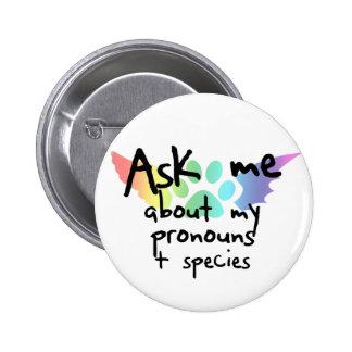 Ask Me About Pronouns Button