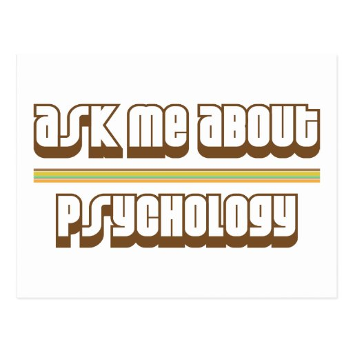 Ask Me About Psychology Postcard