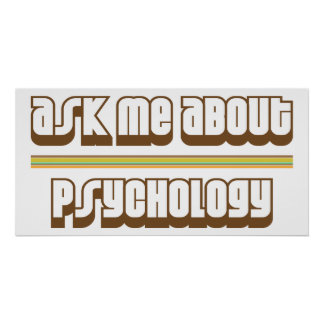 Ask Me About Psychology Poster