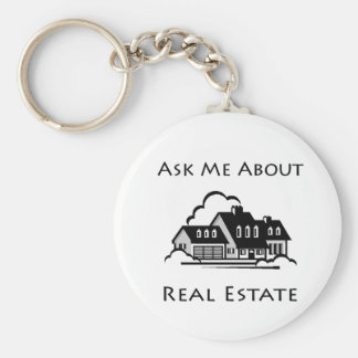 Ask Me About Real Estate Key Chain
