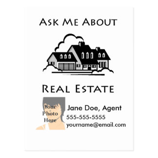 Ask Me About Real Estate Postcard