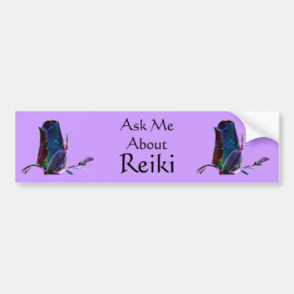 Ask Me About Reiki Bumper Sticker