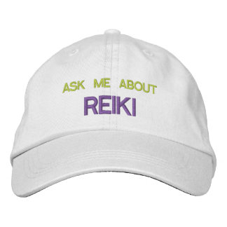 ASK ME ABOUT REIKI - Personalized Adjustable Hat Embroidered Baseball Cap