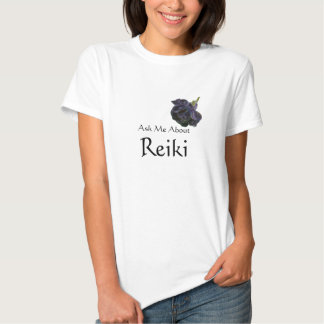 Ask Me About Reiki Purple Rose T-Shirt