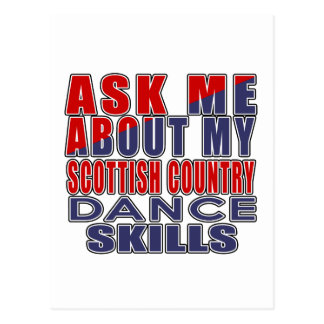 ASK ME ABOUT SCOTTISH COUNTRY DANCING DANCE POSTCARD