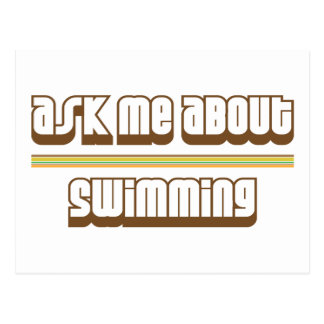 Ask Me About Swimming Postcard