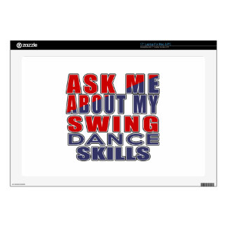 ASK ME ABOUT SWING DANCE DECAL FOR LAPTOP