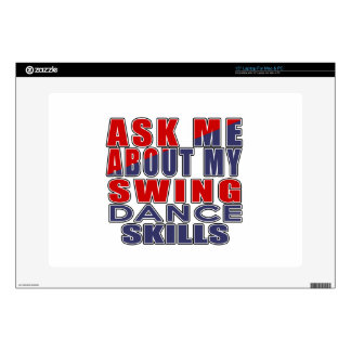 ASK ME ABOUT SWING DANCE LAPTOP SKINS