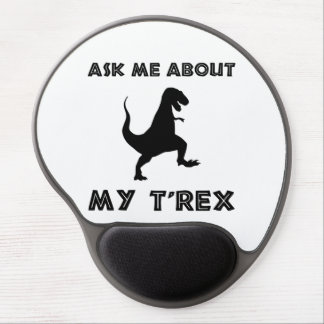 Ask Me About T Rex Funny Gel Mouse Pad