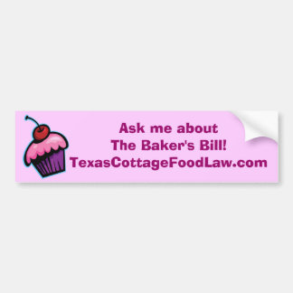 Ask me about the Baker's Bill - pink and burgundy Car Bumper Sticker