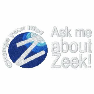Ask Me About Zeek - Men's Polo Circle Logo