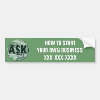 Ask Me Car Bumper Sticker