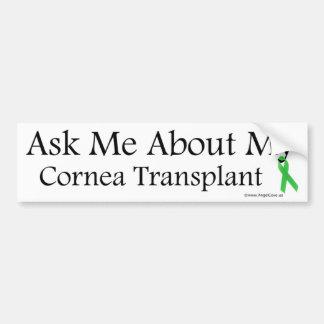 Ask Me Cornea Bumper Sticker