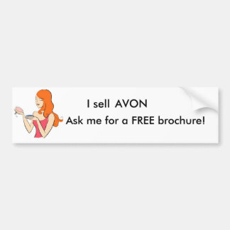 Ask me for a FREE brochure! Car Bumper Sticker