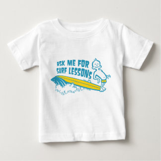 Ask Me For Surf Lessons! Aqua Tee