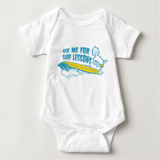 Ask Me For Surf Lessons! Aqua Toddler Jumpsuit Baby Bodysuit