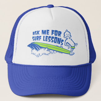 Ask Me For Surf Lessons! Cap in Blue