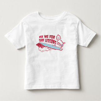 Ask Me For Surf Lessons! Red Toddler T-Shirt