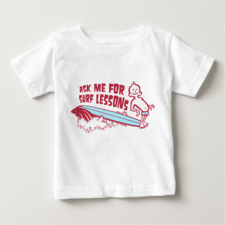 Ask Me For Surf Lessons! Red Toddler Tee