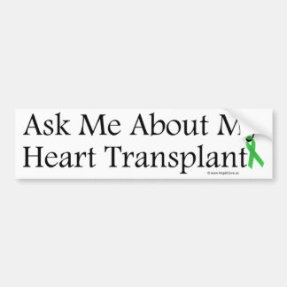 Ask Me Heart Bumper Sticker
