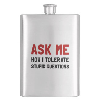 Ask Me Hip Flask