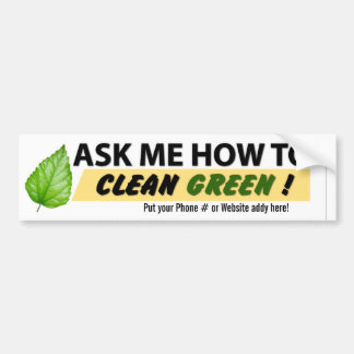 Ask Me How Bumper Sticker