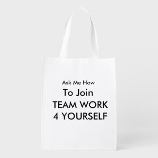 ASK ME HOW TO JOIN SHOPPING BAG GROCERY BAG