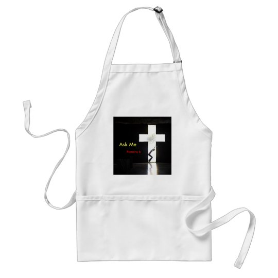 """Ask Me """"In the Cross"""" Adult Apron"""